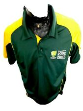 Mens Xlarge Cricket Button Collar Shirt Jersey Cricket Australia Ashes Series