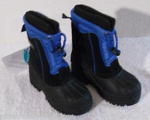 NWT Totes Greg Toddler Boys Insulated Winter Boots 5 Black/Blue MSRP$40