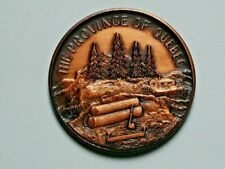 Lower Canada (1867) Quebec CANADA Confederation Medal with Log Cabin & QC Map