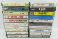 Lot of 20 Country Music Audio Cassette (Lot C102) Garth Alabama Hank Williams
