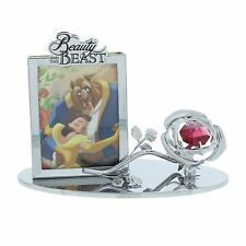 Disney Beauty And The Beast Red Rose & Frame Gift DI390