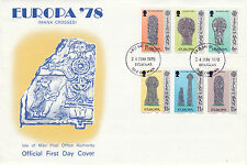 Iom 24 May 1978 Manx Crosses Official Unaddressed First Day Cover Douglas Fdi