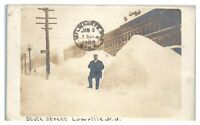 1909 RPPC State Street, Lowville, NY Real Photo Postcard *6O8