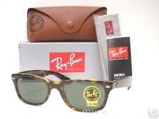 AUTHENTIC Ray Ban Wayfarer 2132 902 New Tortoise Green G15 Sunglasses