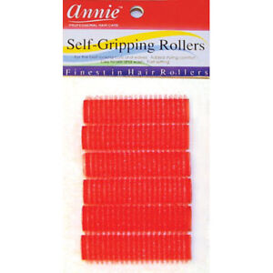 """ANNIE SELF-GRIPPING ROLLERS #1309, 6 COUNT RED SMALL 1/2"""""""