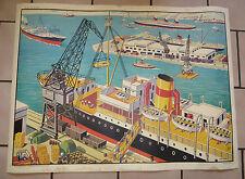 Tableau pédagogique:Le Port N°32, la Mine N°32 bis. M.D.I. SAINT GERMAIN EN LAYE