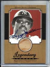0ea9ca0a5 Reggie Jackson 2001 Upper Deck Legends Autograph Game Used Bat