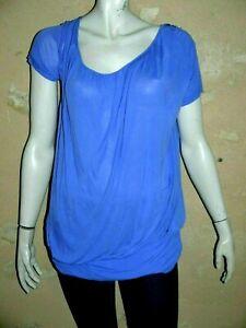 LES PETITES BOMBES LPB Taille S/M - 38 Superbe blouse manches courtes bleue