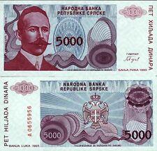 Bosnie - Bosnia billet neuf de 5000 dinara pick 149 UNC