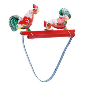 Nostalgic Toy Classic Retro Tin Toy Tin Cock Pecking Rice Toys For Children MA