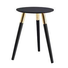 Premier Housewares Nostra Black Oak Veneer Side Table