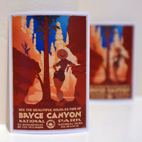"""#3233 Bryce Canyon National Park Adventure 3x4"""" Luggage Label Decal Sticker"""