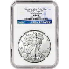 2018-(W) American Silver Eagle - NGC MS69 - Early Releases