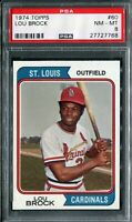 1974 Topps #60 Lou Brock PSA 8 NM-MT