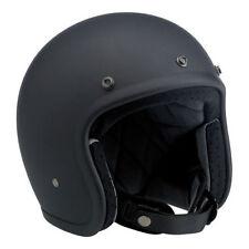 Casco Moto Jet Biltwell BONANZA Gloss Black Nero OPACO Omologato DOT Taglia S