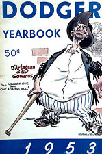 Brooklyn Dodgers Yearbook 1953 BASEBALL Jackie Robinson - Very Good Condition