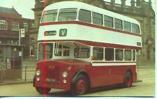 Preserved Oldham Corporation Leyland Titan bus NBU494 1980s unused postcard