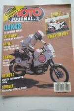MOTO JOURNAL N°781 PARIS-DAKAR ★ HONDA RS 250 & CBR 1000 F ★ ENDURO TOUQUET 1987