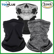 3PACK Face Mask Balaclava Scarf Neck Fishing Shield Sun Gaiter UV Headwear SPF40