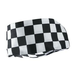 GenWare Big Black & White Check Beanie One Size Hat Cap Elastic to Rear NH03