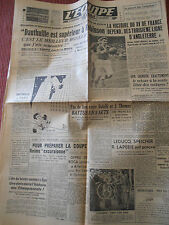 JOURNAL L'EQUIPE RUGBY XV DE FRANCE . BOXE ROBINSON  DAUTHUILLE 1949 (A)