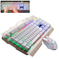 Keyboard KIT TASTIERA E MOUSE PER Console PC USB DESKTOP 104 TASTI  CON FILO