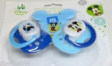 DISNEY BABY MICKEY MOUSE PACIFIER & HOLDER SET BPA FREE 3 PAK COLOR BLUE