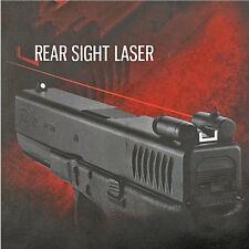 Steel Rear Sight Red Dot Laser Sight For Pistol Gun G17/18/19/21/22 Hunting