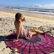 indien rond hippie mandala tapisserie boho plage jet tapis de yoga tapis décorat