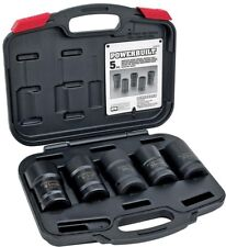 Powerbuilt Master Budd Wheel Socket Kit Heavy Duty Storage Case Hand Tool