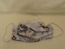 """Birds Blue Jay Face Mask Double Layer Nose Wire Washable 8""""l x 5""""h U.S.A."""