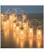 Vintage Outdoor Fairy Led Lights Glass Jar Garden Waterproof Outdoor Lamp Light