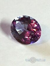 Color change Purple-White #115.Oval 12x10mm. 6,5 Ct. Monosital. US@GEMS