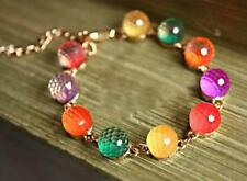 Korea fashion new lovely style sweet candy color crystal beads bracelet female