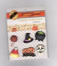 Designer Button-Happy Halloween-Witchy -Vicki Schreiner-Shank -6 Pc