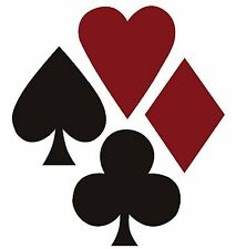 Poker Suite 25 Wallies Spades Hearts Diamonds Red Black Playing Cards Card Decal
