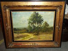 "Stunning Antique ""Marie Reid"" Original Landscape Oil Painting on Board"