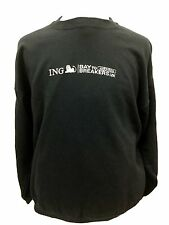 Reebok ING Bay to Breakers 12K Jog Sweater Black Sweat Shirt Run Workout XL C102