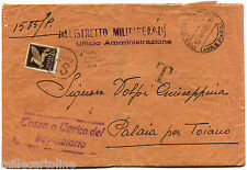RSI, DA PISA, APR 1944, + TIMBRI DISTR. MILITARE PC815, STAMP C50 PA TASSATO   m
