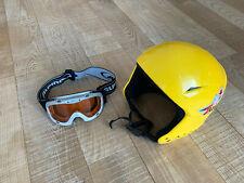 Uvex Kinder Skihelm Gr. S 55-56 cm mit passsender Alpina Skibrille Set