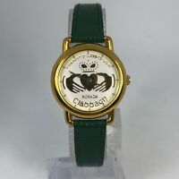 Rovada Claddagh Womens Green Leather Band Quartz Analog Wristwatch