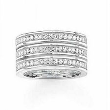 NEW Genuine Thomas Sabo Glam & Soul 3 Rows White CZ Ring TR1970 Size 56 £215