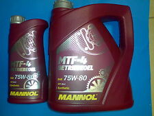 5 L MANNOL mtf-4 huile 75w-80 75w80 API gl-4 BMW MB VW FORD TOYOTA NISSAN
