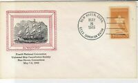 U.S. 1949 4th Nat. Conv. Univers. Ship Cancell. Soc. N.Haven Stamp Cover Rf34635