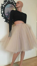 Party Lace Patternless Regular Size Skirts for Women