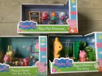 Peppa Pig Classroom Playset, Under the Sea Party and Outdoor Swing Playset
