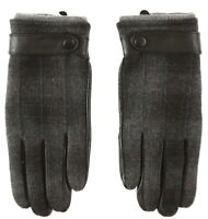 Amicale Mens Black Wool Gloves Sz S 7520
