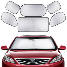 6x Car Window Visors Full Set Folding Sun Block Shade UV Screen Cover Universal