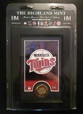 MN Twins MLB Officially Licensed Framed Art & Bronze Coin NIP Highland Mint SG