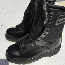 New All-American Boot Mfg Police Military Leather Boots Style 1610 Size 4C